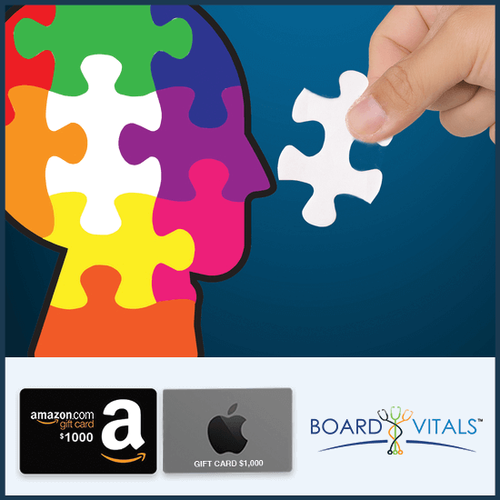 BoardVitals Online CME + MOC Psychiatry Self-Assessment Activity with FREE $1,000 Amazon or Apple Gift Card